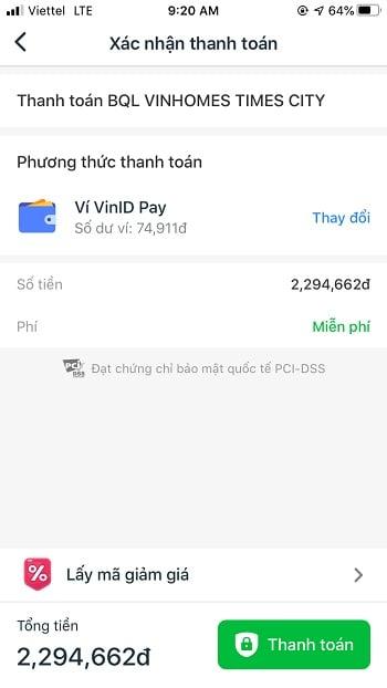 thanh toán bằng ví điện tử VinID Pay